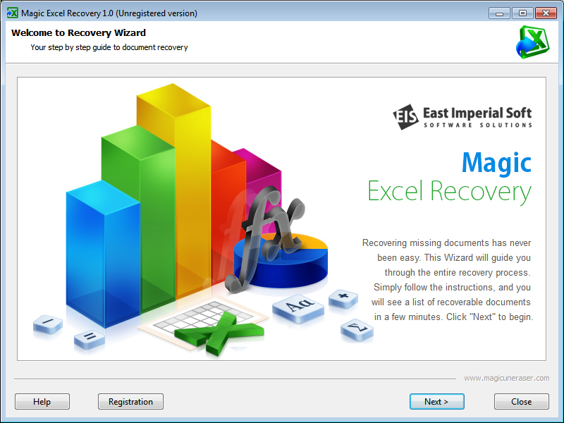 Magic Excel Recovery full screenshot