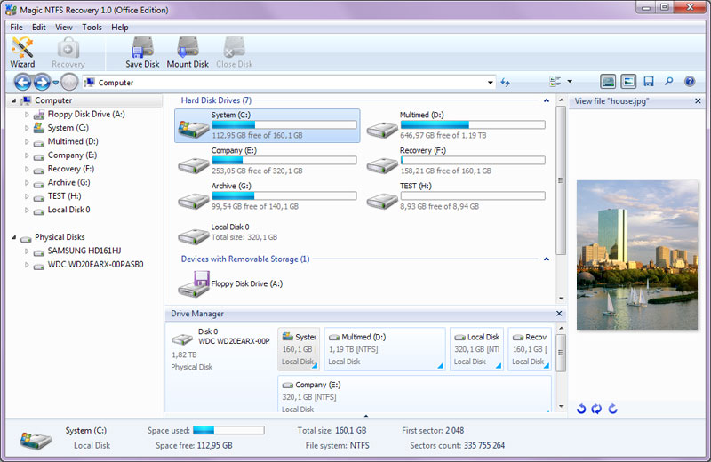 Magic NTFS Recovery screenshot