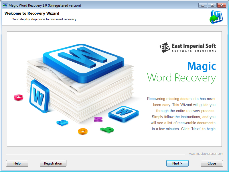 Recover Microsoft Word, PDF and ODT files