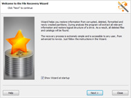 File restore wizard