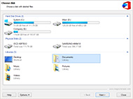 Restores files removed without use of a Recycle Bin