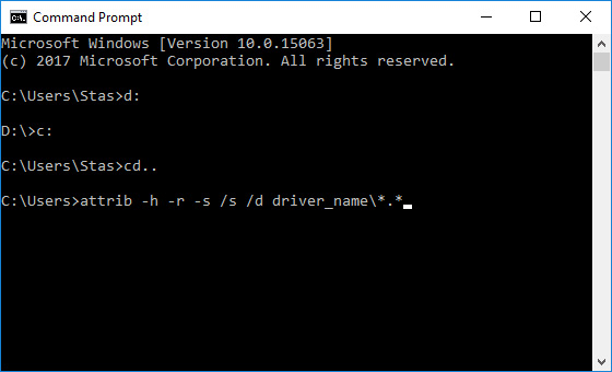 Using the Command prompt to recover deleted files