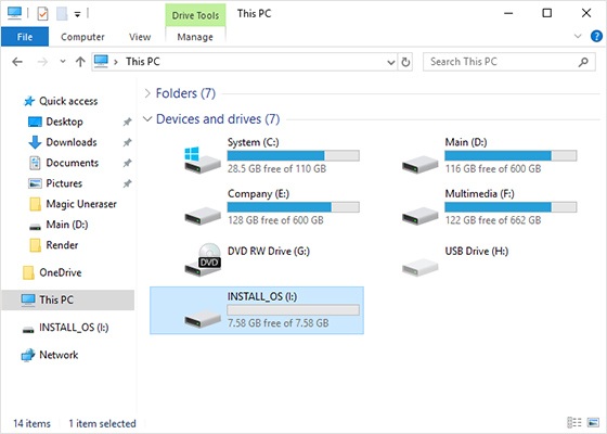 Incorrect configuration of a new hard disk