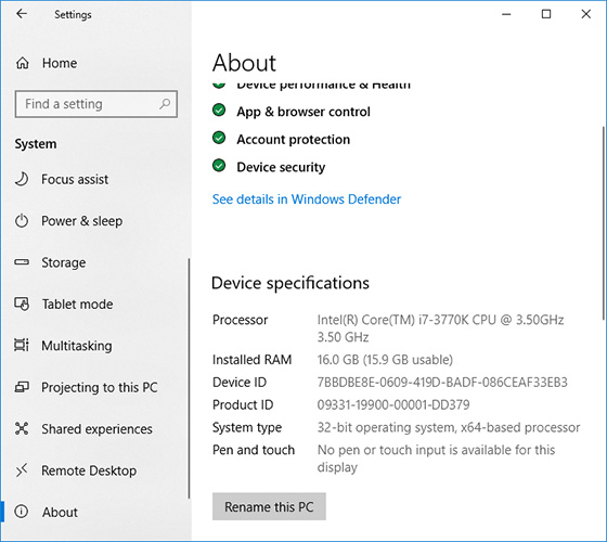 How to change Windows 10 32-bit into its 64-bit version Data