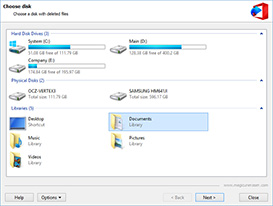 Recover Documents from FAT and NTFS Disks
